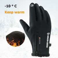 US Women Men Winter Warm Gloves Windproof Thermal Touch Screen Mittens