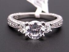 Scott Kay Platinum Round Diamond Engagement Promise Ring M1107 Semi Mounting
