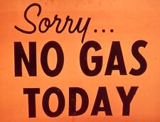 "TIN SIGN ""Sorry No Gas Today""  Vintage   Signs  Rustic Wall Decor"