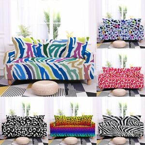 Spotted Sofa Protector Cover Stretch Elastic Furniture Slip Cover 2 3 4 Seater