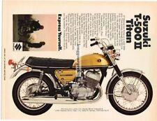 1969 Suzuki T-500 Ii Titan Motorcycle Vtg Print Ad #2