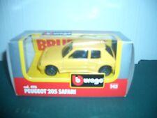 Burago 1/43 Diecast Model Car peugeot 205 safari code 4116 new original boxed