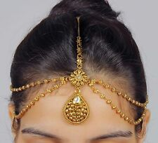 16 Latest Pakistani Matha Patti Pearl Stone Indian Maang Tikka Bridal Head Chain
