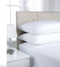 TWINPACK KING SIZE WHITE  FITTED SHEETS  EASY CARE POLY COTTON FABRIC