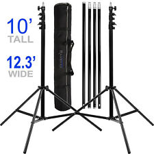 Photo Video Backdrop Stand Muslin Background Support System 10x12 Studio Stands