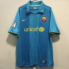 FC Barcelona Away Camicia 2007 - 2008 Taglia XL Blu Giallo