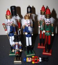 "Lot of 9 Small Christmas Holiday Nutcrackers & Misc 4"" to 10"" By Outlet"