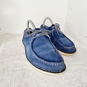 Birkenstock PASADENA Blue Suede Lace Up Men's Shoes Size Uk6 Eu39(20)