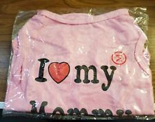 Dog T-Shirt (I 💘 My Mommy) Size M For Small Dog 10 To 15 Lbs