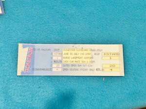 TICKETRON TICKET - INDY CAR RACE - CLEVELAND GRAND PRIX - JUNE 30TH 1989