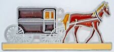 """Horse Drawn Carriage ~ Suncatcher with Stained Glass/Acrylic/Metal ~ 6"""" New"""