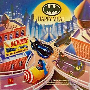 Complete Set of 4 (NIP) 1991 McDonald's BATMAN RETURNS Happy Meal Toys