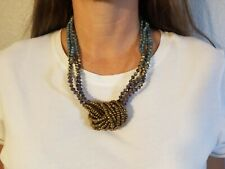 31 Bits Urban Knot Teal Necklace NWT New With Tags beaded $68. Handmade.