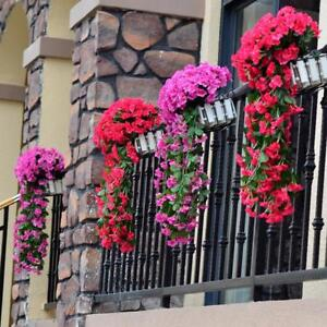 Wall Hanging Artificial Flowers Orchid Basket Decoration For Home Party Bouquets