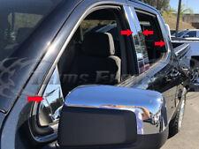 2019-Up Chevy Silverado/Sierra Crew+Double Cab Stainless Pillar Post Trim 8Pc