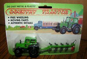 Green Country Farm Tractor & Plow Toy Set Welly 9130 / 2B Tillage Deutz Allis