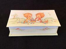 Vintage Betsey Clark Special Treasures Trinket Box Cute Girls Cat Hallmark