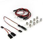 16PCS LED Light Truck Lights Headlights Taillight RC Car Accessories AUX Channel