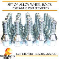 Ensemble de 20 * 12x1.25 mm 12x1.25 Alliage Roue Acier lug bolts 60 degrés conique nuts