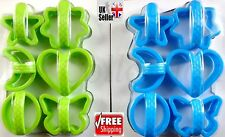 6Pcs Plastic Home Biscuit Cookie Cutter Set Different Shapes Cake Pastry Mould