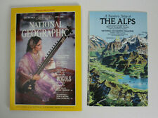 National Geographic April 1985 with Travellers Map of the Alps