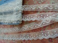 2 Matching French Antique Lace Valenncia Val Trim 4 yards edging