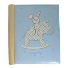 Photo Album - New Baby - Rabbit on Rocking Horse Design - Boy Self Adhesive