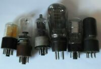LOT 3 ...SIX RADIO VALVES FERRANTI NSP2 BRIMAR 6V6GT + 6Q7GT + THREE OTHERS