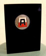 Vtg US 1st Army Insignia Emblem Lucite Desktop Paper Weight Military Colonel USA