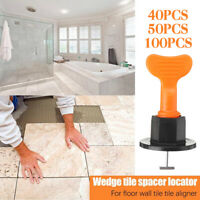 100x Tile Leveling System Kits Leveler Tile Spacer Wall Floor Tool