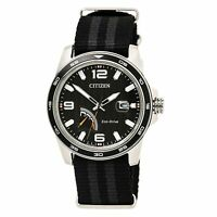 Citizen AW7030-06E Men's Black Dial Black & Grey Nylon Strap Watch