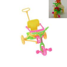 Nettes Plastikfahrrad-Dreirad mit Stoßgriff für Puppen-Kind-Geschenk CM