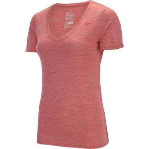 Women's Nike VNeck Legend SS Veneer Shirt MEDIUM Red 700777-647 FREE SHIPPING