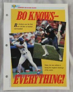 Bo Jackson Oakland Raiders Champions & Record Holders Sports Heroes Sheet