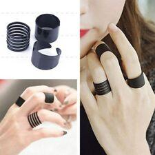 3PCS Matte Scrub Adjustable Stack Plain Above Knuckle Finger Tip Band Midi Ring