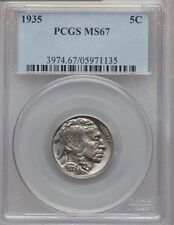 1935 5C BUFFALO NICKEL - PCGS MS67 - FIVE CENT