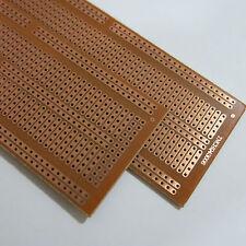 5x pcb 4.8x13.3cm 5er Streifenraster Veroboard Lochraster Platine Leiterplatte