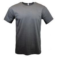 Landes Daily Men's T-Shirt Cool Plain Crew Neck Tee Soft 100%Cotton ASLPHALT NEW