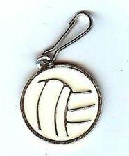 Volleyball Enameled Zipper Pull - Free Shipping