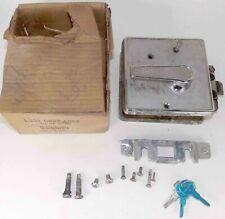 Vtg BARGMAN L-300 Motorhome Door Latch Lock Handle Airstream Chrome W/ Box & Key