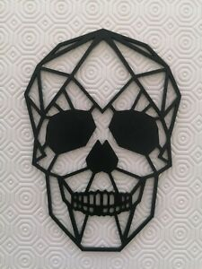 Geometric Skull Wall Art hanging, 3d Gothic choice of colours