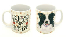 BORDER COLLIE - HOLZSCHILD + KAFFEEBECHER IM SET HUND  07