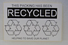 save Money recycling your old boxes Reuse Labels Sticker hate waste WHITE