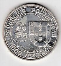 C.R 07 MONEDA REPUBLICA PORTUGUESA 1000 ESCUDOS PLATA