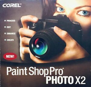 Corel Paint Shop Pro Photo X2 old version CD-ROM Works on Windows 10,7,Vista,XP