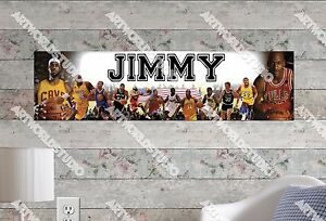 Personalized/Customized NBA Superstars Name Poster Wall Art Decoration Banner