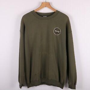 Nike Wst.71 Small Check Vintage Distressed Crewneck Sweatshirt Size Large Green