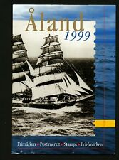 Aland Finland 1999 Year set complete including booklets in official folder. MNH