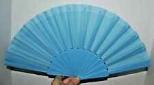 Plastic Hand Fan Abanico de Mano Bolsillo flamenco Dance Baile blue azul New