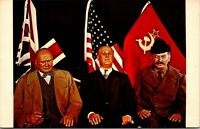 Vtg 1950's Yalta Conference, Hollywood Wax Museum in California CA Postcard